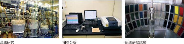 合成研究,樹脂分析,促進耐候試験