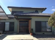 徳島市国府町K様 和風のお家を淡いグリーンの外壁に。
